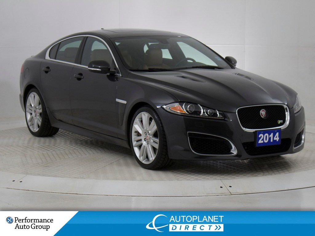 Pre-Owned 2014 Jaguar XF XFR,Navi,Sunroof,Heated/Cooled Seats!