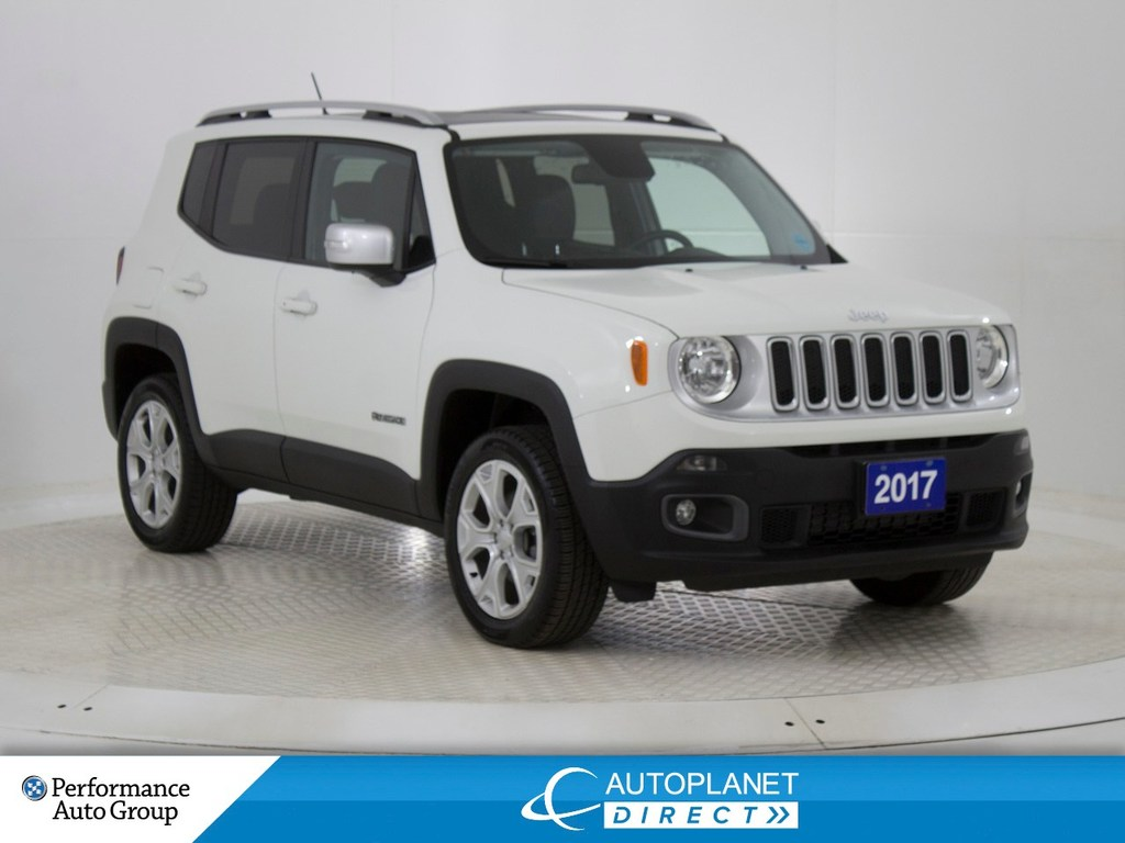 Pre-Owned 2017 Jeep Renegade Limited 4x4,Navi,MySky Removable Roof,Leather!